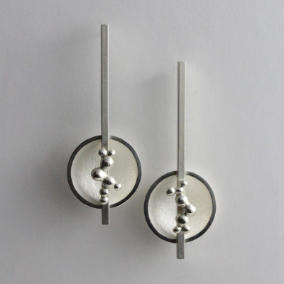 Morphology Earrings I. Sterling silver, £150.