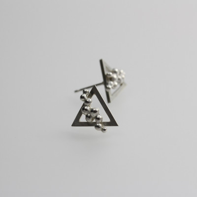 Morphology Studs IV. Stud earrings, sterling silver, £105.
