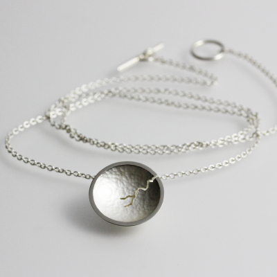 Morphology Pendant VI. Tiny pendant, sterling silver, £95.