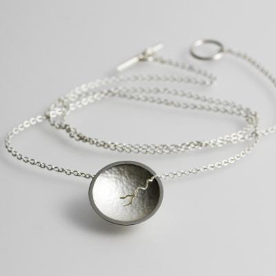 Morphology Pendant VI. Tiny pendant, sterling silver, £115.