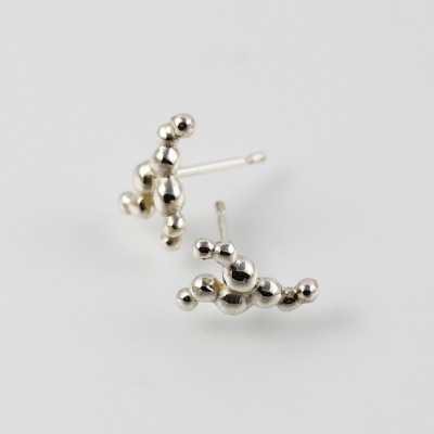 Morphology Studs VI. Sterling silver, £65.
