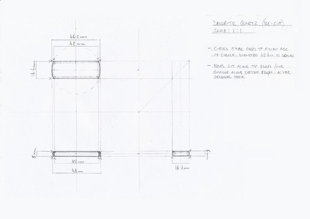 Tech drawing - stone