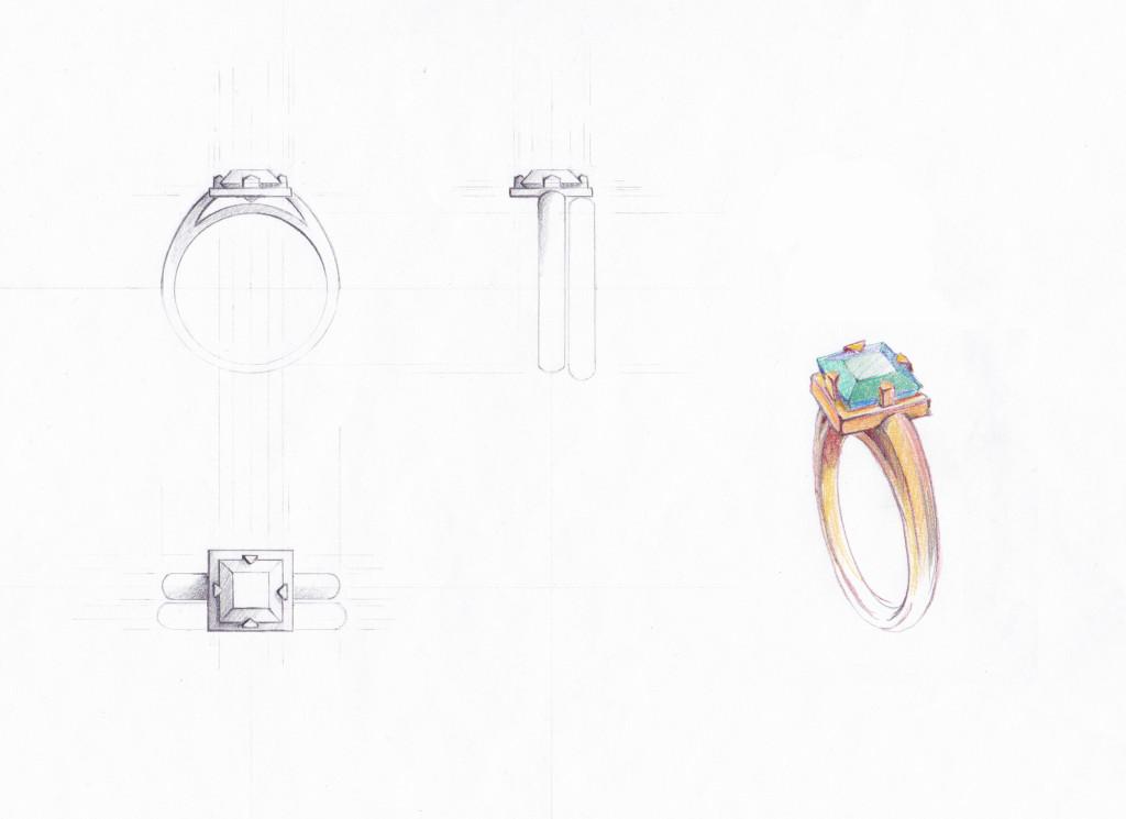 Jade Ring, drawing