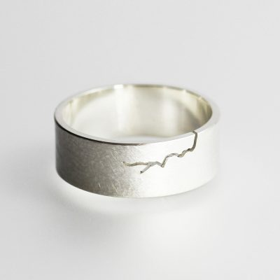 Morphology Broad Ring. Sterling silver. £125