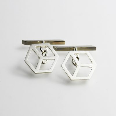 Isometric Cufflinks. Sterling silver. £125