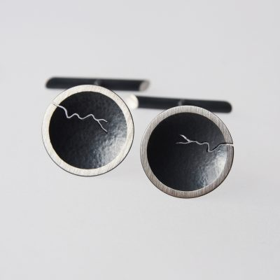 Morphology Cufflinks. Sterling silver, part oxidised. £150