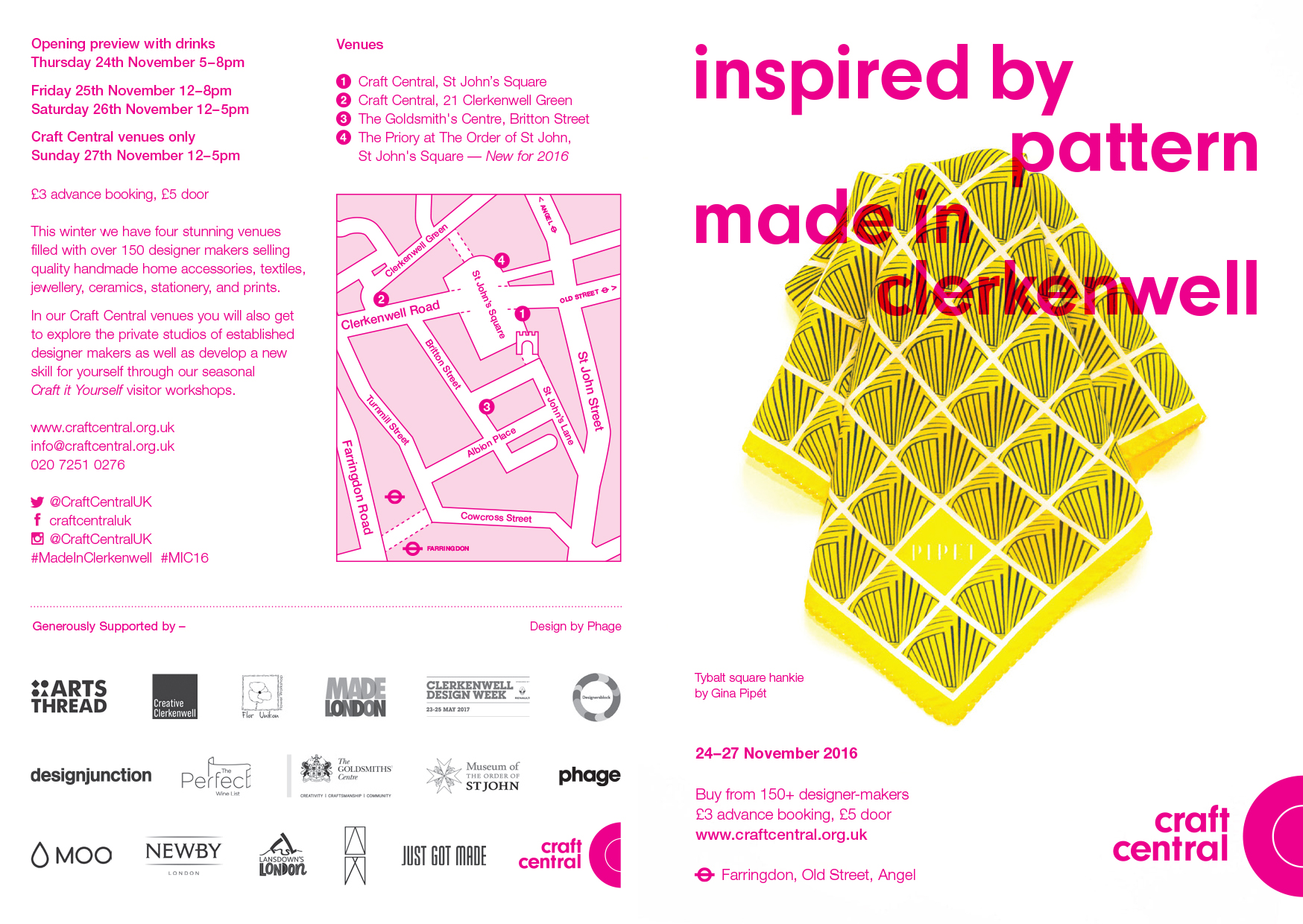Made in Clerkenwell Winter 2016 flyer
