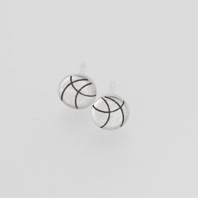 Europa Studs. Etched and oxidised stud earrings, sterling silver. £70